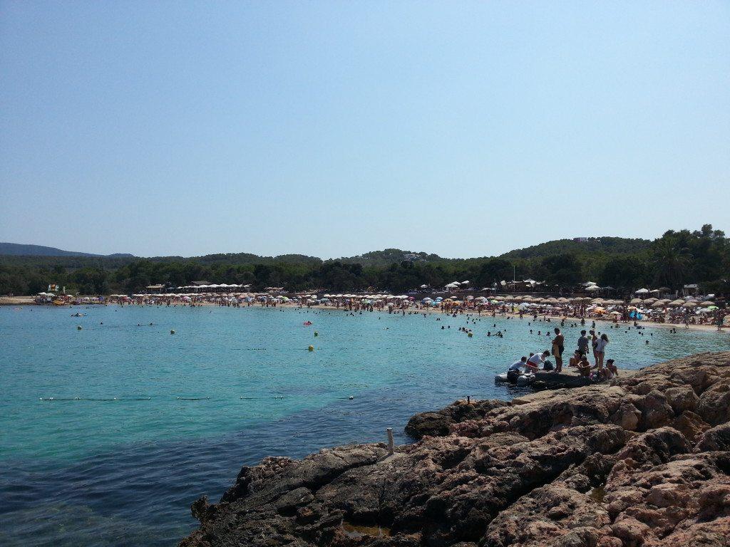 Cala Bassa just one of the many beautiful Ibiza beaches