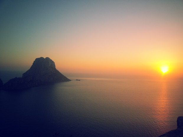 The cliffs overlooking es Vedra a stunning location for an Ibiza sunset