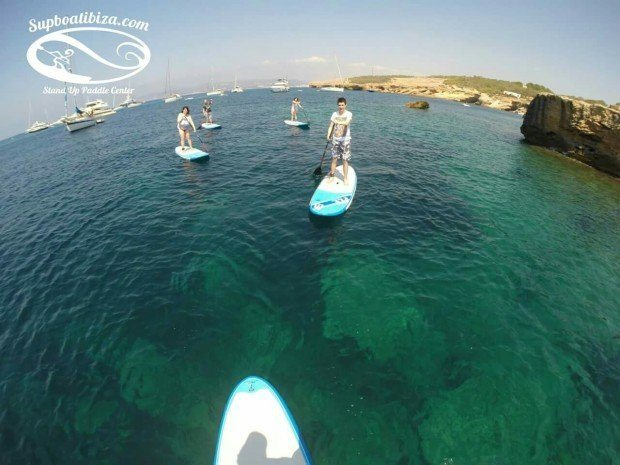Paddle Boarding in Ibiza a great activity for the whole family