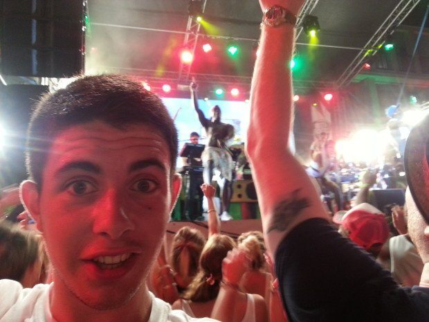 Our eldest at his first proper gig Rudimental at Ibiza Rocks
