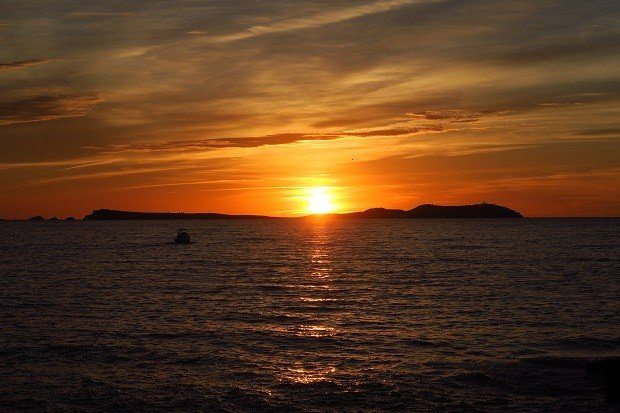 The sunset in San Antonio ibiza