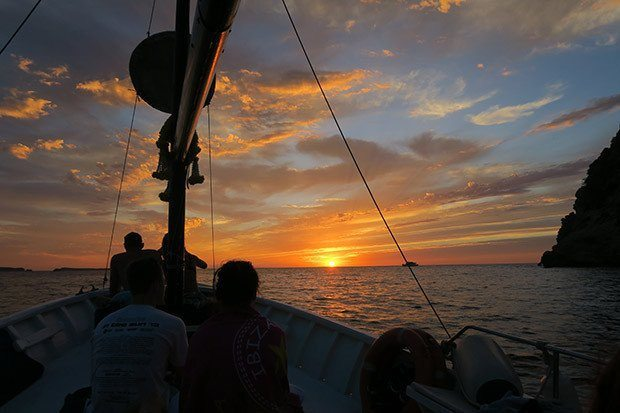 The perfect way to see the sunset from Chilli Pepper Charters, San Antonio, Ibiza