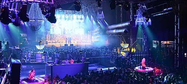 Privilege opening party Ibiza is enormous holding 10'000 party goers