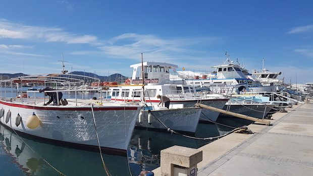The harbour in San Antonio where I first fell in love with Ibiza