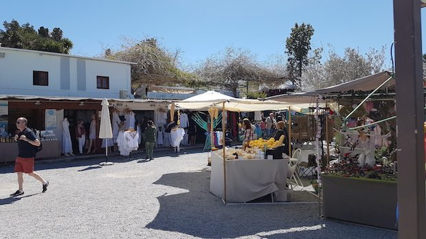 Las Dalias Hippy Market in Sant Carles open on Monday and Tuesday evenings in July