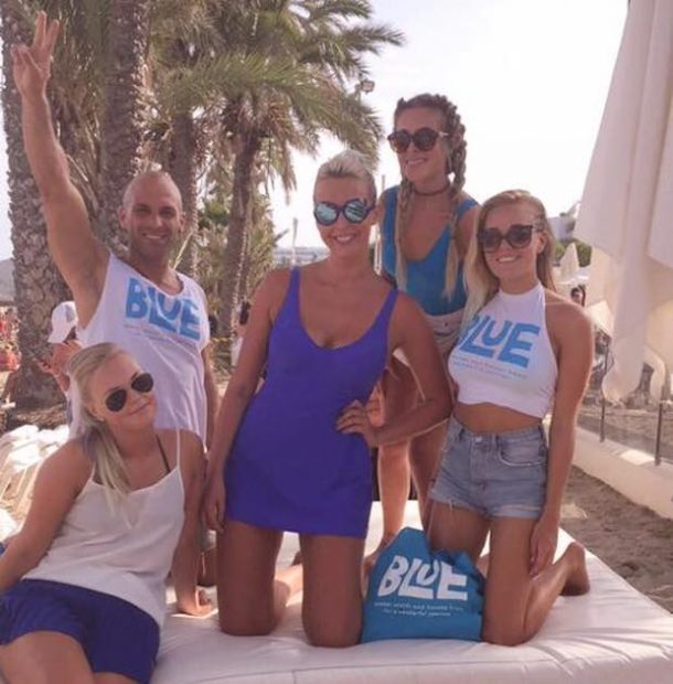 Amanda and the Ushuaia Blue team Ibiza 2016