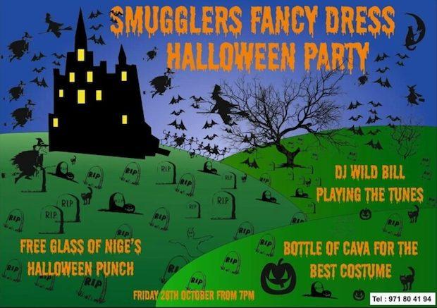Halloween start's early at the Smugglers Inn Cala de Bou