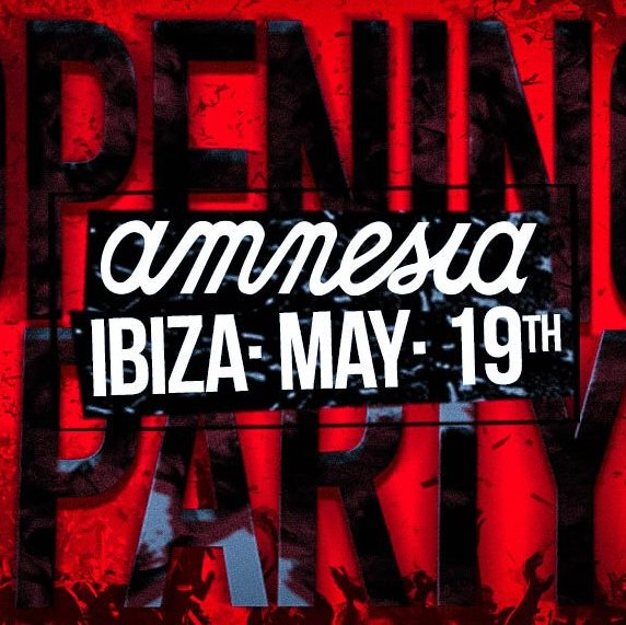 Amnesia Opening party 2018