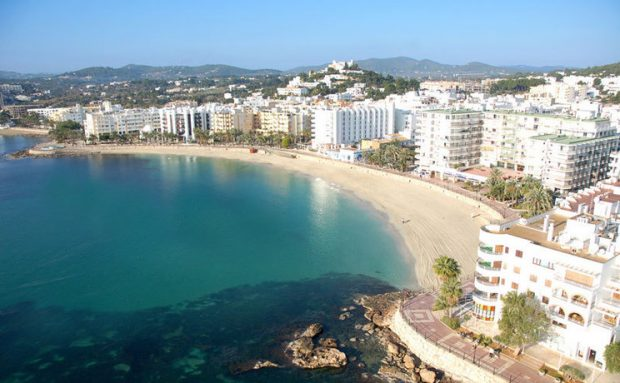 Santa Eulalia Beach a beautiful fine clean stretch of soft sand