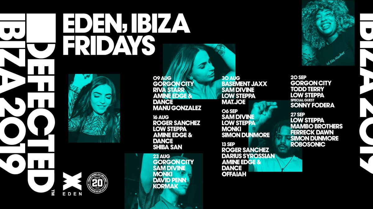 Defected Ibiza Eden Friday Line Ups