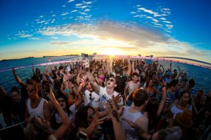 Dance as the sun sets on another incredible Ibiza day with Pukka Up Boat parties