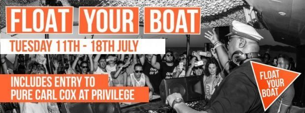 FYB Boat Party the exclusive boat party of Carl Cox at Privilege