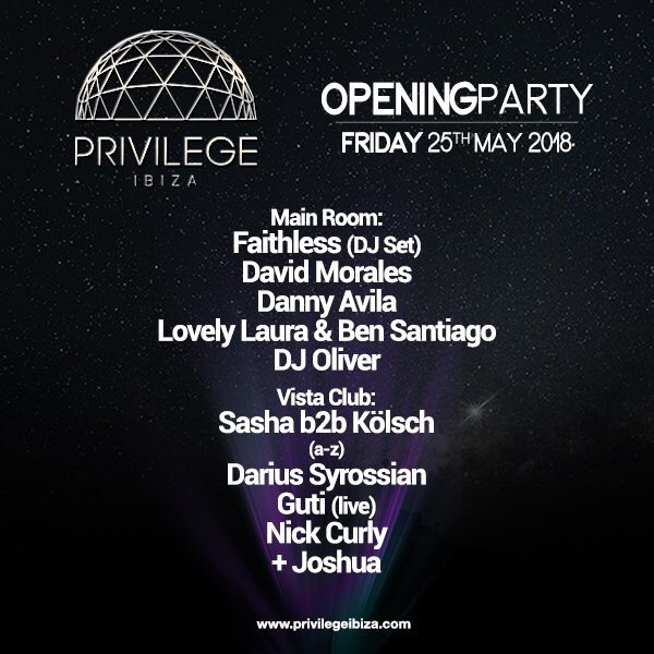 Privilege Opening Party 2018 Line Up