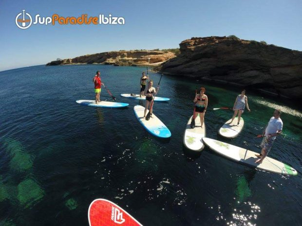Paddle boarding great for small and large groups of family and friends