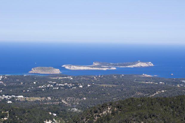Looking towards the islands surrounding Ibiza from Sa Talaia
