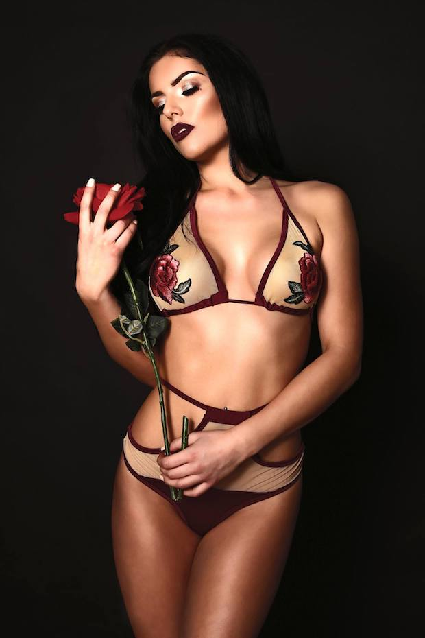 Fantasy - wine coloured two piece bikini from Forbidden Fruits