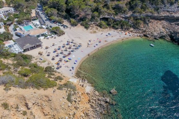 Cala Moli a great place to escape to in the summer in Ibiza