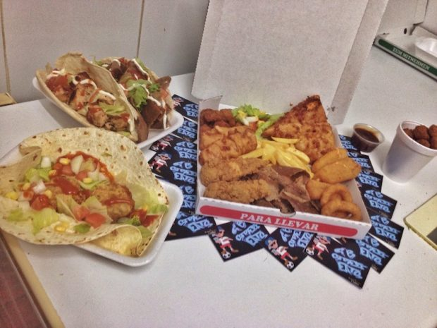 A box of munchies delivered to you in the West End by GB Street Eats