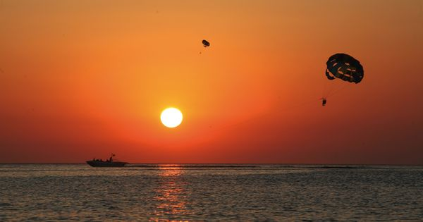 Parasailing at sunset in Ibiza both exhilarating and truly special