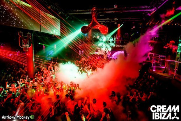 Cream Ibiza at Amnesia one of the biggest parties on the island