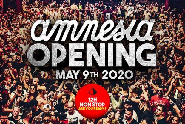 amnesia Ibiza opening party 2020