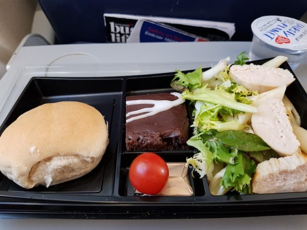 British Airways complimentary food on our return flight from Ibiza