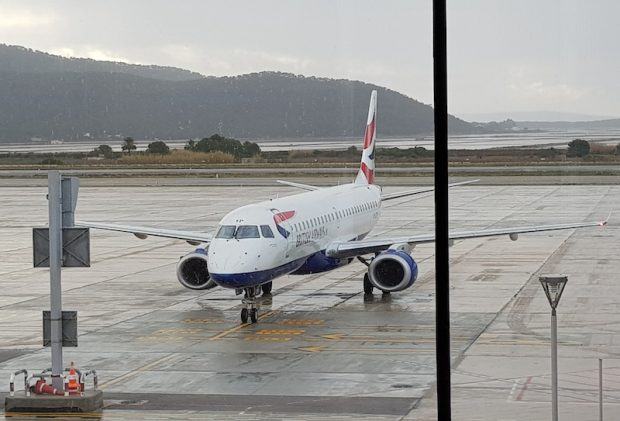 Our return aircraft with British Airways from Ibiza to London