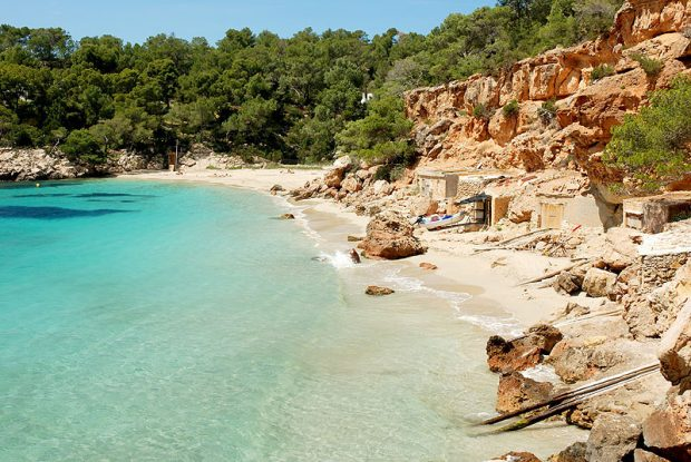 The quiet beaches of Ibiza in late April and early May