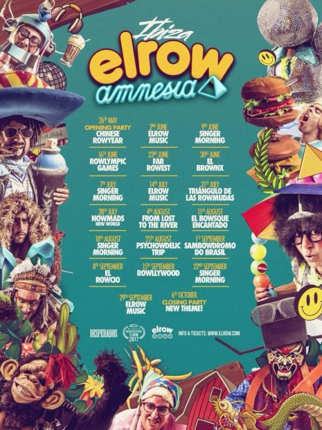 Elrow Amnesia Ibiza 2018 Themes