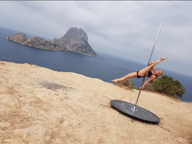 Get fit and learn to pole dance in Ibiza pic courtesy of superwomanpoledance.co.uk