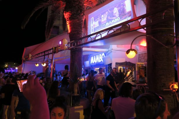 The Cafe mambo booth home to the world's top DJ's each evening
