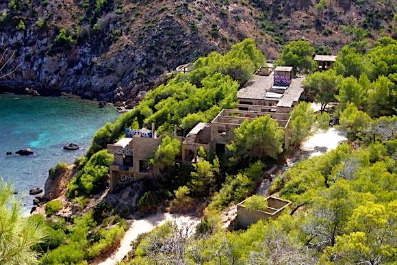 The abandoned resort at Cala D'en Serra Ibiza