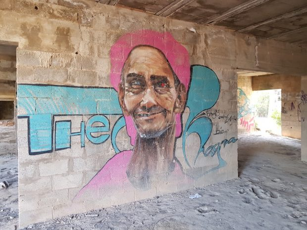The abandoned Ibiza resort has become a magnet for some amazing graffiti artists