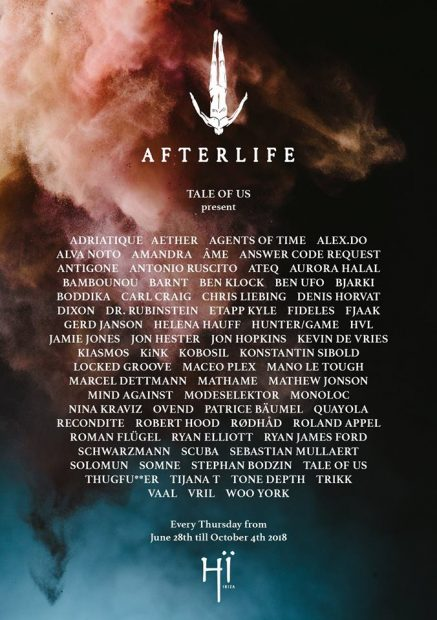 Afterlife Hï Ibiza on Thursdays this summer
