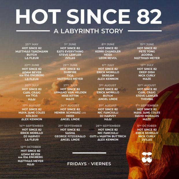 Hot Since 82 Pacha 2018 Line Ups
