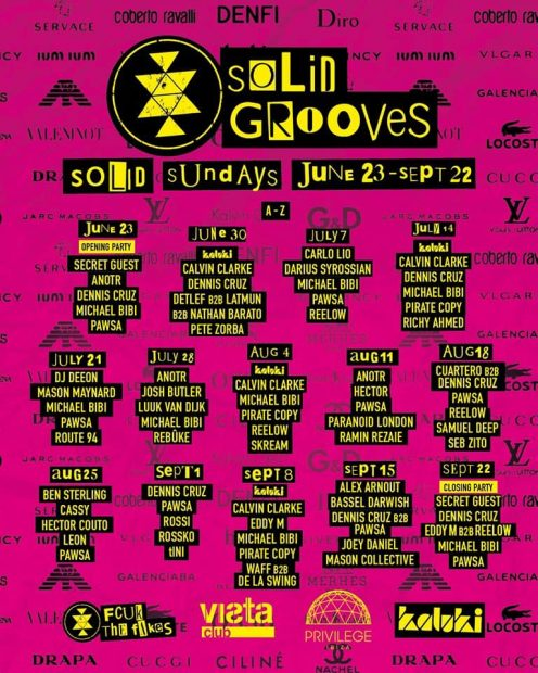 Solid Grooves Privilege Ibiza weekly line ups