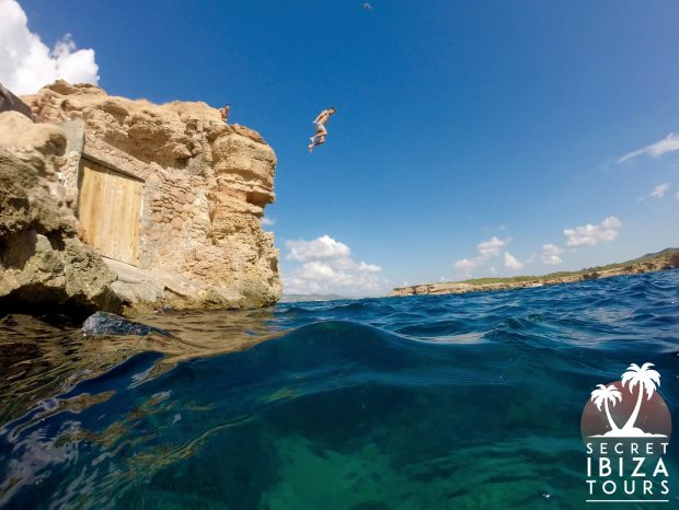 Something for the adrenaline junkies cliff jumping with Secret Ibiza Tours