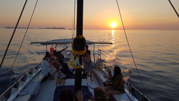 Chilli Pepper Charters Ibiza sunset boat trip is truly magical