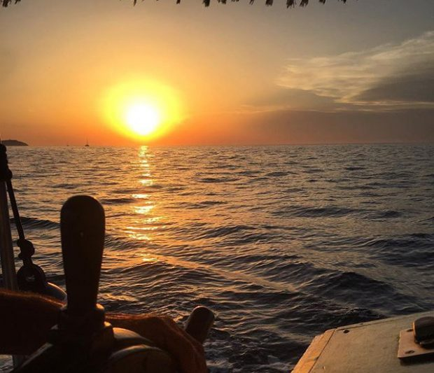 The sunset from Chilli Pepper Charters Ibiza, truly heaven itself