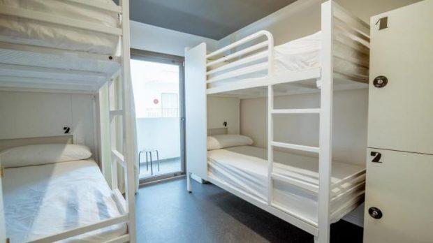 The shared dorms at the Amistat San Antonio Ibiza