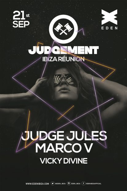 Judgement at Eden Ibiza returns for an end of season spectacular