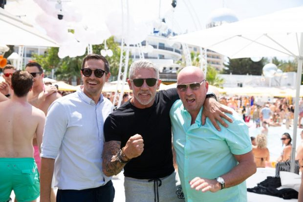 O Beach Ibiza owners Duane Lineker, Wayne Lineker and Tony Truman