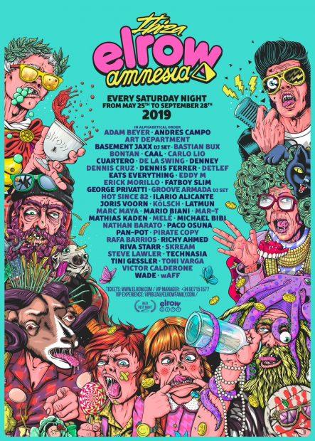 Elrow Amnesia Ibiza 2019 line ups