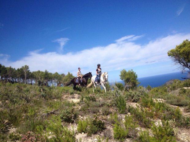 Exploring the other side of Ibiza on horses