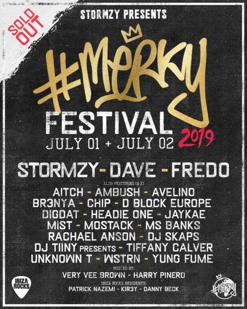 MERKY Festival by Stormzy Ibiza Rocks 2019 line ups