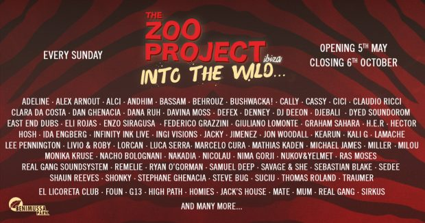 The Zoo Project Benimussa Park 2019 Season Line Ups