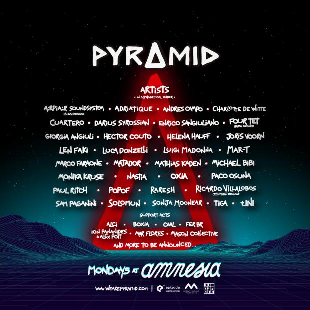 Pyramid Amnesia Ibiza 2019 Line Ups