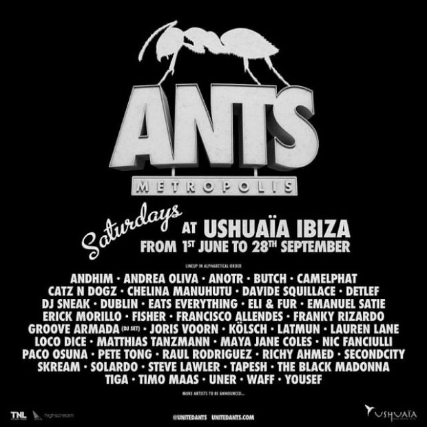 ANTS returns to Ushuaïa on Saturday for summer 2019