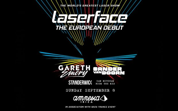 Laserface Gareth Emery Amnesia Ibiza 8th September