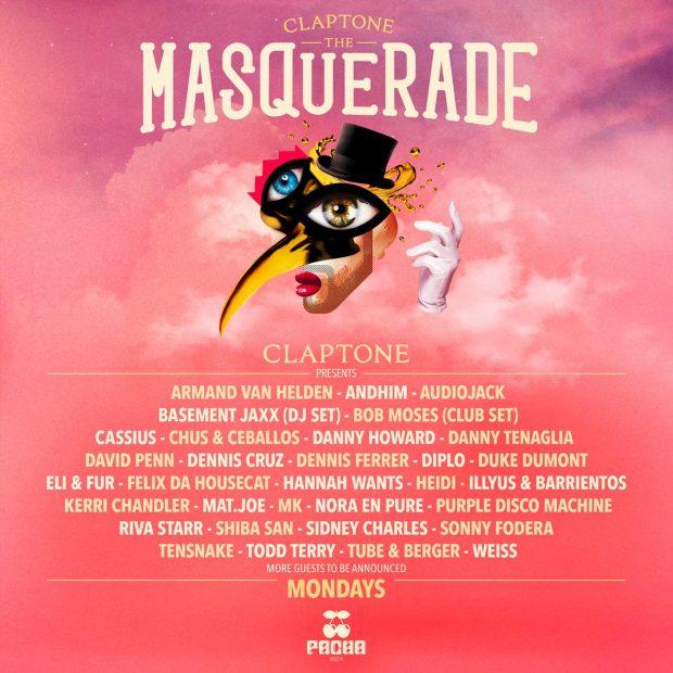 Masquerade by Claptone Pacha Ibiza 2019 season line ups